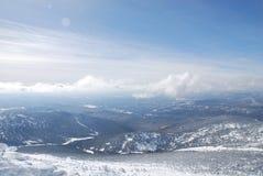 Dessus de montagne de Mustag Image stock
