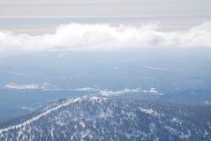 Dessus de montagne de Mustag Photographie stock libre de droits