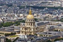 dessus de Paris Image stock