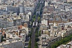 dessus de Paris Image libre de droits