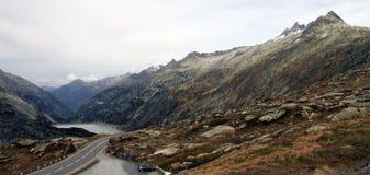 Dessus de passage Suisse de Grimsel Image libre de droits