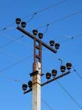 Dessus de poteau électrique Photographie stock