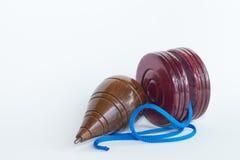 Dessus de rotation avec le yo-yo Photos libres de droits