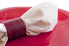 Dessus de serviette de dîner images stock