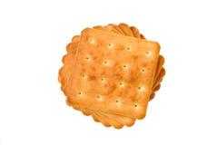 dessus de spirale de pile de forme de biscuits Images stock