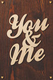 Dessus de table avec la confession d'amour Image libre de droits