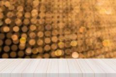 Dessus de table en bois blanc de perspective Images stock