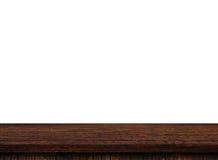 Dessus de table en bois léger vide image libre de droits
