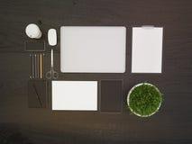 Dessus de table foncé de bureau Photographie stock