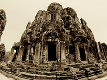 Dessus de temple de Bayon Images stock