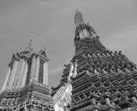 Dessus de temple de Wat Arun (Bangkok, Thaïlande, Asie) Images libres de droits