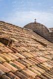 Dessus de toit à la maison dans la vieille ville de Dubrovnik Image stock