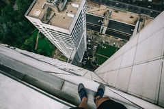 Dessus de toit à Moscou Images libres de droits