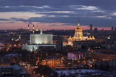 Dessus de toit à Moscou Images stock