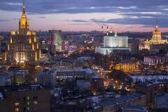Dessus de toit à Moscou Photo stock