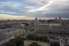 Dessus de toit à Moscou Photos libres de droits