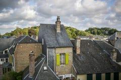 Dessus de toit avec des cheminées Photo libre de droits