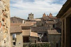 Dessus de toit, Carcassonne, France Photo libre de droits