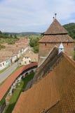 Dessus de toit chez Valea Viilor, la Transylvanie, Roumanie Images stock