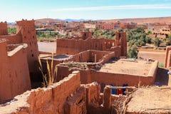 Dessus de toit d'Ait Benhaddou, Maroc Photos libres de droits
