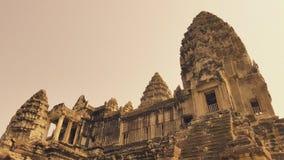 Dessus de toit d'Angor Wat, Cambodge Photos libres de droits