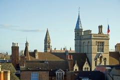 Dessus de toit d'Oxford photo libre de droits