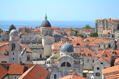 Dessus de toit dans Dubrovnik, Croatie photographie stock libre de droits