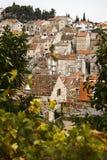 Dessus de toit dans Hvar, Croatie Photos stock