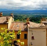 Dessus de toit dans Montepulciano, Toscane, Italie Photo libre de droits