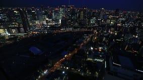 Dessus de toit de bâtiment de ciel d'Umeda banque de vidéos