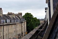 Dessus de toit de Bath Images libres de droits