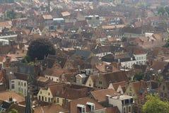 Dessus de toit de Bruges Image libre de droits