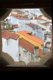 Dessus de toit de Coimbra Images libres de droits