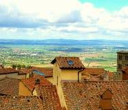 Dessus de toit de Cortona Image stock