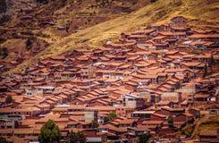 Dessus de toit de Cusco images stock