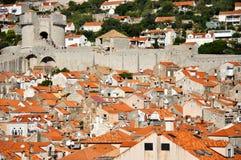 Dessus de toit de Dubrovnik Photo libre de droits