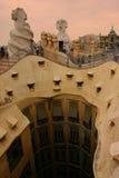 Dessus de toit de Gaudi Images stock