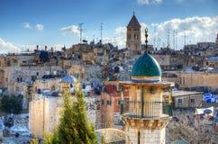 Dessus de toit de Jérusalem image libre de droits