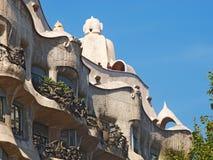 Dessus de toit de La Pedrera. Barcelone Photo libre de droits