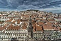 Dessus de toit de Lisbonne Images stock