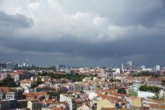 Dessus de toit de Lisbonne Photographie stock libre de droits