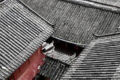 Dessus de toit de maison chinoise Photographie stock