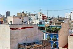 Dessus de toit de maisons Vieille ville d'Alicante l'espagne Photographie stock