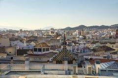 Dessus de toit de Malaga Images libres de droits
