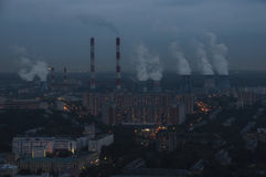 Dessus de toit de Moscou Image libre de droits