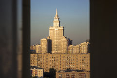 Dessus de toit de Moscou Photo stock