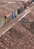 Dessus de toit de Nicaragua images libres de droits