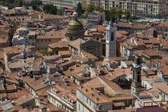 Dessus de toit de Nice - sud de la France Photographie stock libre de droits