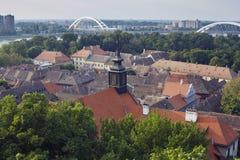 Dessus de toit de Petrovaradin image libre de droits