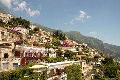 Dessus de toit de Positano Image libre de droits